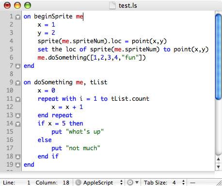 lingo script in textmate