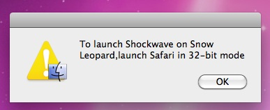 Shockwave on Snow Leopard